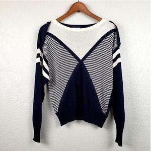 Vintage 80s Escada Sweater Nautical - 36